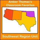 This 74 page unit on the Southwest region covers the natural resources, products, landmarks, landforms, and history of the region. It also has visual, kinesthetic, note-taking, writing, poetry, mapping, and dramatic activities. The tests and worksheets included have answer keys. $9.99