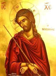 """wonderful little icon of Jesus - I think the """"Bridegroom"""" theme"""