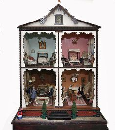 At the turn of the century in New York, there were several dollhouse types that were sold by FAO Schwarz. No one has ever discovered who made this