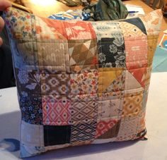 A cushion for my mum, made using a Moda Candy in Persimmon. I used some of the squares to make some HST.