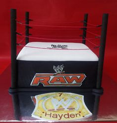 WWE Wrestling Ring cake - by Cakery Creation in Daytona Beach