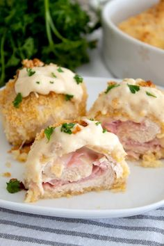 This Homemade Dish Is Crispy And Delicious, Filled With Cheese And Ham. It Is An easy Version Of The Famous French Meal That Is Ready In About One Hour. . Recipe For Chicken Cordon Blue, Cordon Blue Recipe, Baked Chicken Cordon Bleu, Chicken Cordon Bleu Casserole, Cordon Bleu Sauce, Chicken Recipes, Chicken Meals, Cooking Recipes, Laughing