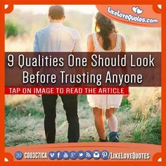 9 Qualities One Should Look Before Trusting Anyone