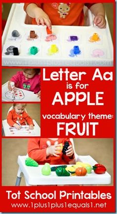 Tot School Printables A is for Apple ALSO LETTERS B-Z!