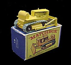 1960s Matchbox No 18 Caterpillar Bulldozer In Box
