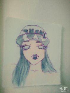 Zombie anime girl draw