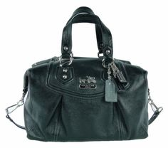 Coach Madison Leather Audrey Satchel Bag Purse.....I have in gunmetal grey