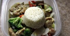 Photo shows the curry in its frozen state    This is a great meal that you can make ahead and freeze for an emergency dinner. Thai curry p...