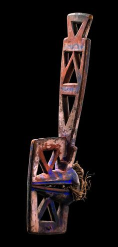 """Africa   Mask """"oba maoro"""" from the Ibo-Afikbo people of Nigeria   Wood, polychrome paint    This was was used in context of jurisdictional ceremonies"""
