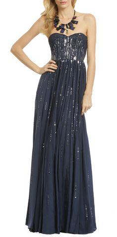 Meteor Shower Gown by Rebecca Taylor. Get this from http://www.renttherunway.com/lp/signup/hellosociety?campaign=PPCHELSOC=GS1=2644=type56=SF1=Pinterest=HardPin, where you can rent designer dresses for fraction of the price. Great idea for proms or even wedding dresses.