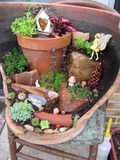 Fairy garden in-a-pot