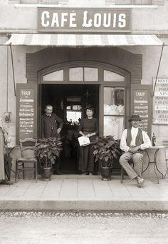 Ancienne Boutique Commerce Café Bar Louis - Retirage Photo ancienne repro