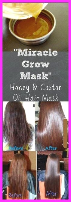 The all natural ingredients in this honey and castor oil hair mask for hair growth work together to strengthen dry, brittle strands, moisturize the scalp, and enrich the hair with proteins. (Hair Growth Tips) Hair Growth Mask Diy, New Hair Growth, Hair Growth Tips, Healthy Hair Growth, Natural Hair Growth, Hair Care Tips, Natural Hair Styles, Long Hair Styles, Castor Oil For Hair Growth
