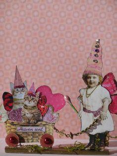Altered Art Fairy Valentine OOAK Handmade Pixie Mixed Media Paper Pixies | eBay