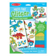 Mess-Free Glitter Adventure Foam Stickers and lots more specialty toys at Wonder Works Toys! Make your own sparkling stickers! Melissa and Doug's patented technology lets kids get the look and feel of real glitter without the mess. Online Craft Store, Craft Stores, Glitter Crafts, Melissa & Doug, Toys Shop, Stickers, Craft Kits, Craft Activities, Gifts For Boys