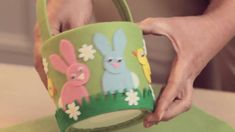 Easter crafts: How to make an Easter basket (+playlist)