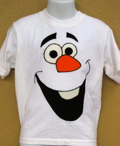 Handmade Embroidered Frozen Olaf  Snowman Tshirt by JabbyCreations, $20.00