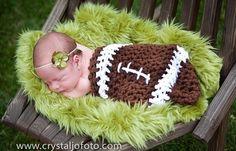 Newborn Baby Cocoon NFL Football Photo Prop