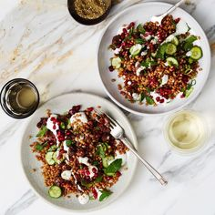 119 Easy and Inspiring Dinner Recipes for COOK90 | Epicurious Farro Recipes, Healthy Recipes, Salad Recipes, Game Recipes, Healthy Fruits, Diabetic Recipes, Healthy Foods, Yummy Recipes, Vegetarian Recipes