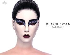 The Sims Resource: Black Swan Face Paint by Starlord • Sims 4 Downloads