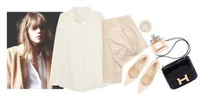 """""""#480"""" by flameberries ❤ liked on Polyvore featuring Hermès, Manolo Blahnik, W118 by Walter Baker, H&M, Christian Dior and Topshop"""