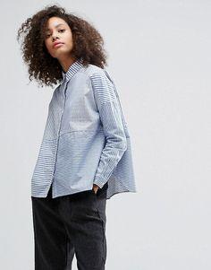 Monki Cut About Stripe Shirt