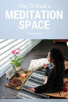 Designing a personal Zen space indoors or out. Find natural holistic ways and easy hacks to getting and staying fit through yoga, dance, tai chi, walking, strength training . Live a full healthy life. Yoga Meditation, Meditation Corner, Meditation Rooms, Meditation For Beginners, Meditation Techniques, Yoga Inspiration, Design Inspiration, Diy Yoga Mat, Mindfulness Meditation