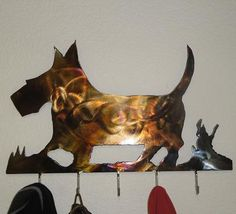 Simple hand-cut scotty dog coat hanger or key chain hanger.. see more at carhartcustoms.com