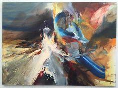 Pintura Hebert Sanchez, mixta sobre lienzo.
