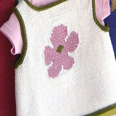A sweet baby slipover top with a choice of THREE motifs -heart, flower, and star. Baby Knitting, Knitting For Kids, Knitting Projects, Easy Knitting Patterns, Knitting Stitches, Dk Weight Yarn, Schematic Drawing, Knit Edge, I Cord