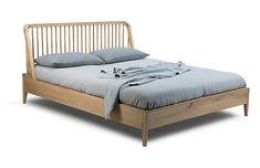 Spindle Bed, Oak - Beds & Headboards - Furniture - Category Landing Page One Kings Lane Bedding Master Bedroom, Master Bedroom Design, Spindle Bed, Superking Bed, Oak Beds, Headboards For Beds, Platform Bed, Comforter Sets, Bed Sheets