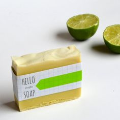 Mojito Handcrafted Vegan Soap 5 oz, all natural skincare, peppermint and lime essential oils on Etsy, $7.50