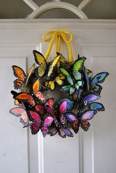 butterfly wreath #2 | Flickr - Photo Sharing!