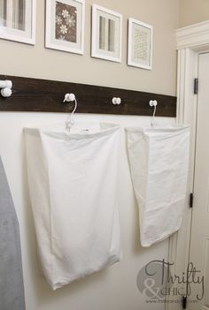 DIY laundry room organization | Thrifty & Chic
