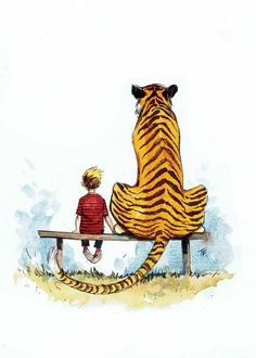 I would LOVE to have this as a print. Does anyone know who the artist is? Calvin and Hobbs.