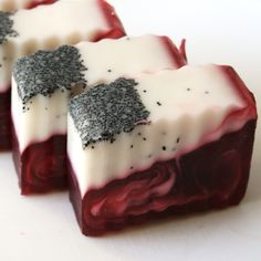 Wild Betty Soap Bar (Vegan) - Wild Betty is extreme sweet and crazy juicy cherry soap that screams cherry lifesavers! Topped off with poppy seeds for texture.