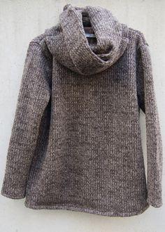 zero - Snood Sliver Pullover Knit - Brown - 26,800JPY