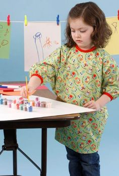 DIY Kids Crafts | Adorable Art Smock for kids so they can craft with you!