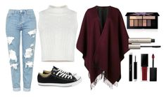 """Untitled #207"" by aryasally ❤ liked on Polyvore featuring Topshop, Converse, rag & bone, Ilia and Smashbox"