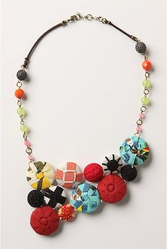 Fun covered button necklace
