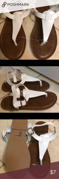 Mossimo Supply Co. white sandals New without tags white sandals. Mossimo Supply Co. Shoes Sandals