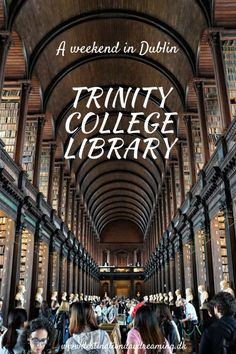 Trinity College Library - a must-see for all book lovers on a weekend to Dublin! Read about my visit on the blog. destinationdaydreaming.dk