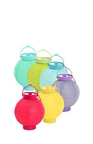 PAPER LANTERN SET - Not normally a huge fan of too much colour, but I can just picture these strung up around the garden for our ester brunch or Christmas party - who says you have to stick to traditional? Mr Price Home, Lantern Set, Love To Shop, Paper Lanterns, Lamp Shades, Lamp Light, Lighting, Outdoor Decor, Brunch