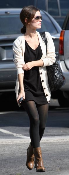 Black dress grey tights 40
