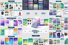 ColorChaos IOS Mobile UI kit by Sladedesign on @creativemarket