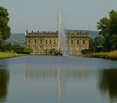 Lowden Hall in BLIND FORTUNE looks like this. (Chatsworth House)