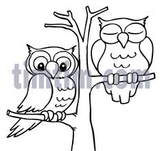 Coloring Pages Draw An Owl A Cartoon Drawing Of 2 Owls Sitting Art And Illustration, Pattern Illustration, Free Kids Coloring Pages, Owl Coloring Pages, Adult Coloring, Funny Cartoon Drawings, Cartoon Sketches, Owl Pictures, Pictures To Draw