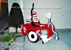 Homemade Cat in the Hat and His Vacuum Cleaner Wheelchair Costume: Every Year we find a new way to go out for Halloween and every year I let my son pick what he wants to be. This year he picked Cat in the Hat, and then