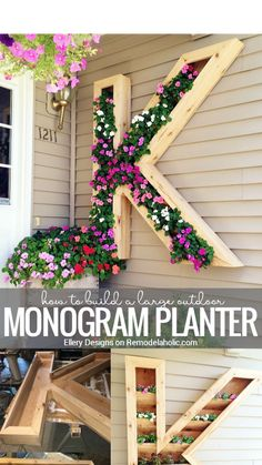 Outdoor Landscaping, Outdoor Plants, Outdoor Spaces, Outdoor Gardens, Outdoor Living, Outdoor Decor, Outdoor Projects, Wood Projects, Plant Shelves