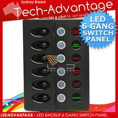 42392 boat-parts 12V NEW MARINE/BOAT 6 GANG WATERPROOF LED SWITCH PANEL  BUY IT NOW ONLY  $85.45 12V NEW MARINE/BOAT 6 GANG WATERPROOF LED SWITCH PANEL...